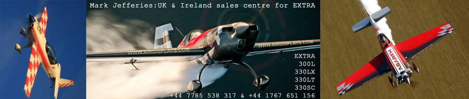 Extra Aircraft Information & sales – Mark Jefferies.