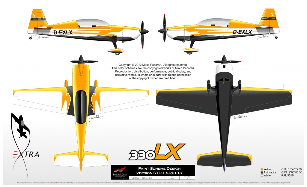 Extra 330LX paint scheme