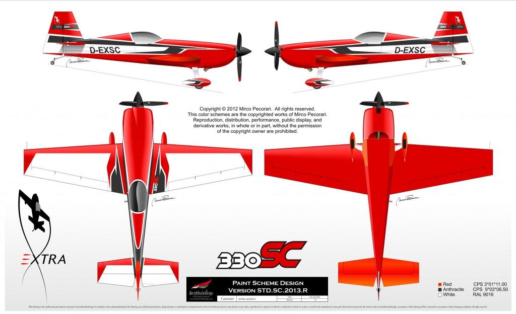 Extra 330SC factory paint scheme
